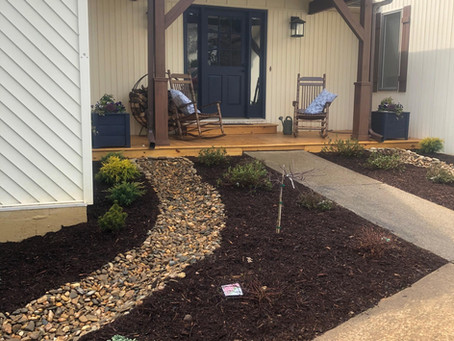 River Rock Dry Bed to Help with Drainage
