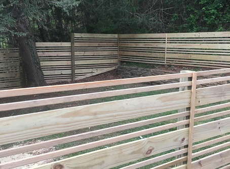 Horizontal Slat Fence Clyde