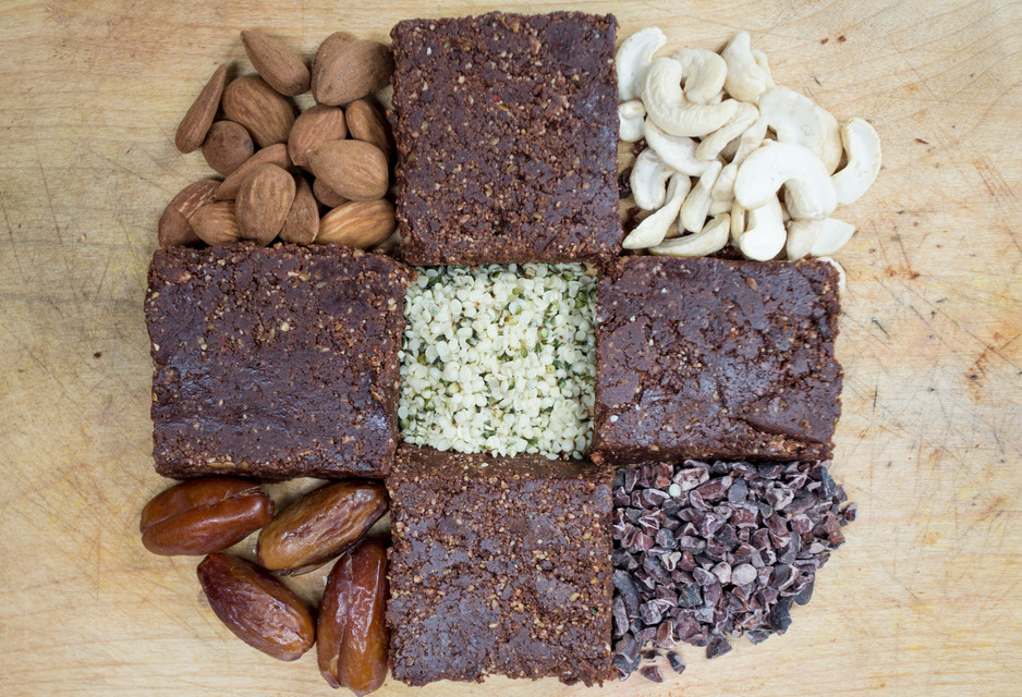 Raw Chocolate Brownies - from Divine Dessers