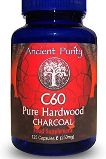 C60 Hardwood Charcoal - 125 pills