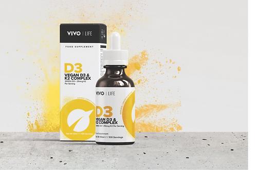 Liquid Vegan vitamin D3 with K2