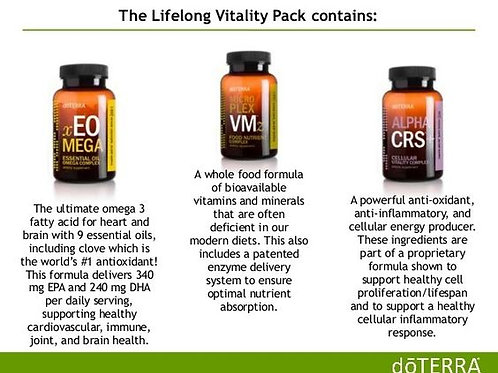Lifelong Vitality Triple Pack of Supplements