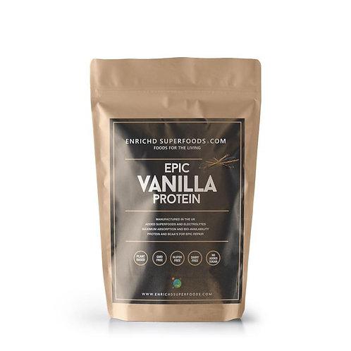 Enriched vanilla protein powder
