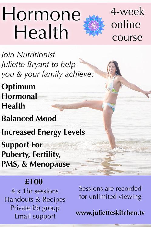4 Week Online Hormone Balancing Course