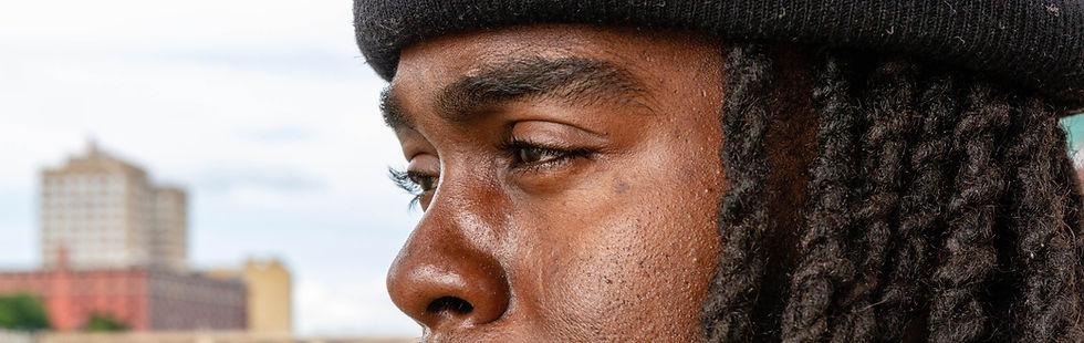 Close up of Rob-1's eyes.