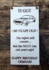 Personalised Birthday Plaque