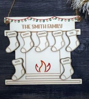 Family Fireplace and Stockings
