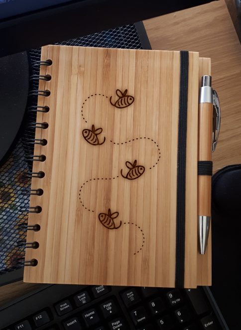 A5 Bamboo Notebook with Pen (Busy Bees)