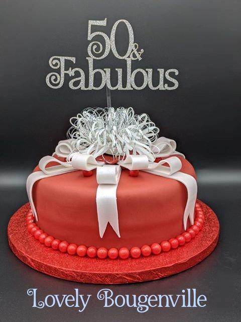 50 & Fabulous Cake Topper (12cm)