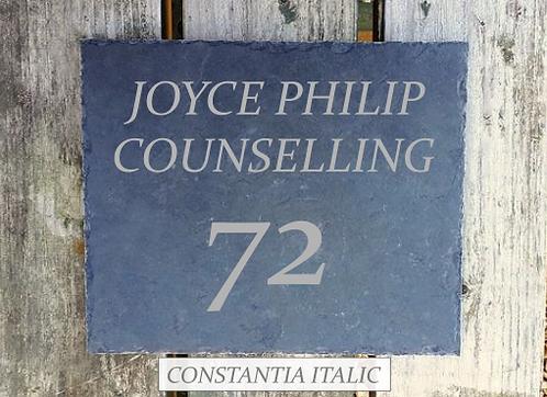 Slate Tile House Sign (30x25)