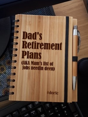 A5 Bamboo Notebook with Pen (Dad's Retirement Plans)