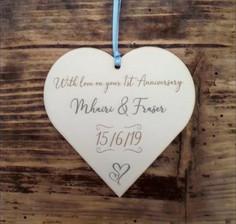 Heart Plaque (Anniversary)