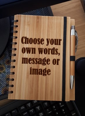 A5 Bamboo Notebook with Pen (Personalised)