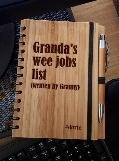 A5 Bamboo Notebook with Pen (Granda's Wee Jobs List)