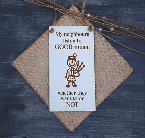 Scottish Door Hanger (Good Music - Male)