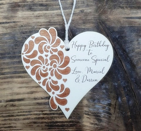 Personalised Ornate Heart Plaque