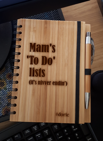 A5 Bamboo Notebook with Pen (Mam's To Do List)