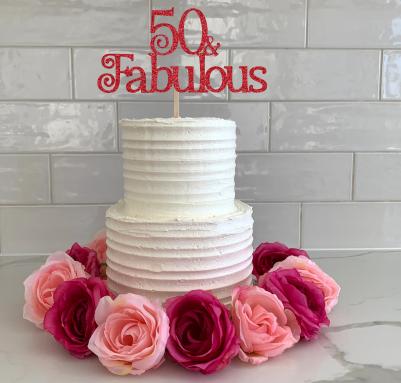 Cake Topper (50 & Fabulous)