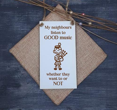 Scottish Door Hanger (Good Music - Female)