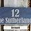 Thumbnail: Slate Tile House Sign (30x10)