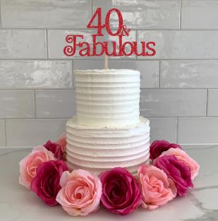Cake Topper (40 & Fabulous)