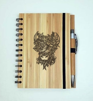 A5 Bamboo Notebook with Pen