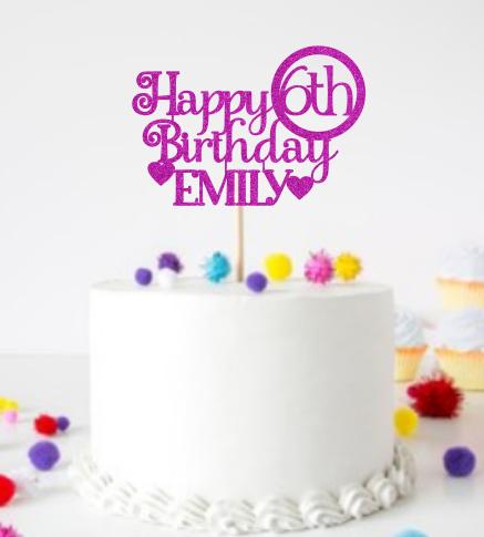 Personalised Happy Birthday (Age & Name)