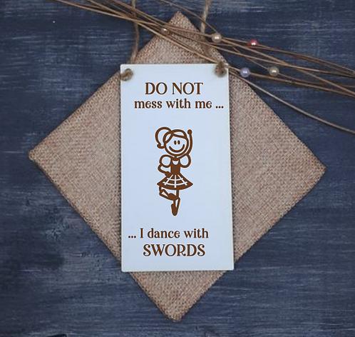 Scottish Door Hanger (Dance with Swords)