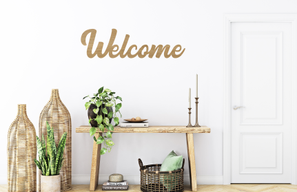 """Wall Sign """"Welcome"""""""