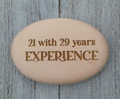 Personalised Wooden Pebble (Back)