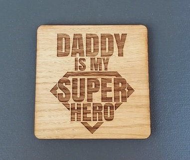Wooden Coaster (Superhero)