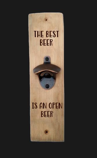 Oak Stave Bottle Opener (The Best Beer)