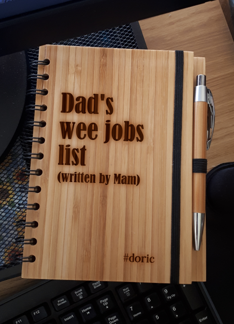 A5 Bamboo Notebook with Pen (Dad's Wee Jobs List)