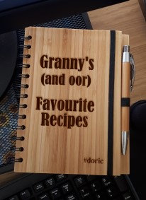 A5 Bamboo Notebook with Pen (Granny's Favourite Recipes)