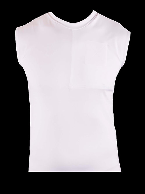 Men's S White Left-Sided Sleeveless