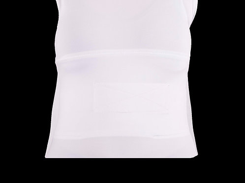 White Men's Small Sleeveless Shirt-Abdominal