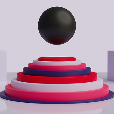 image graphique 3d tirée d'une animation sur le motion design