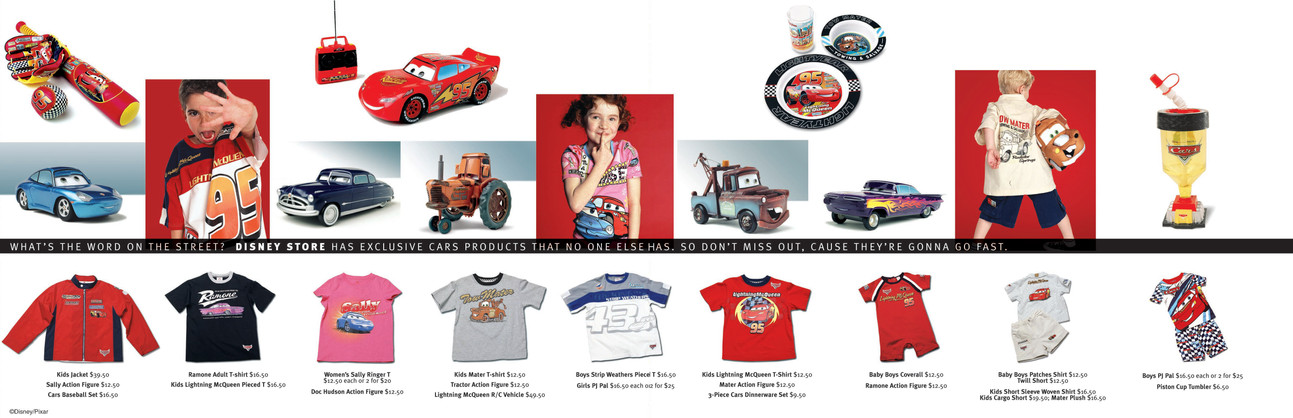 Cars Advertising and brochure