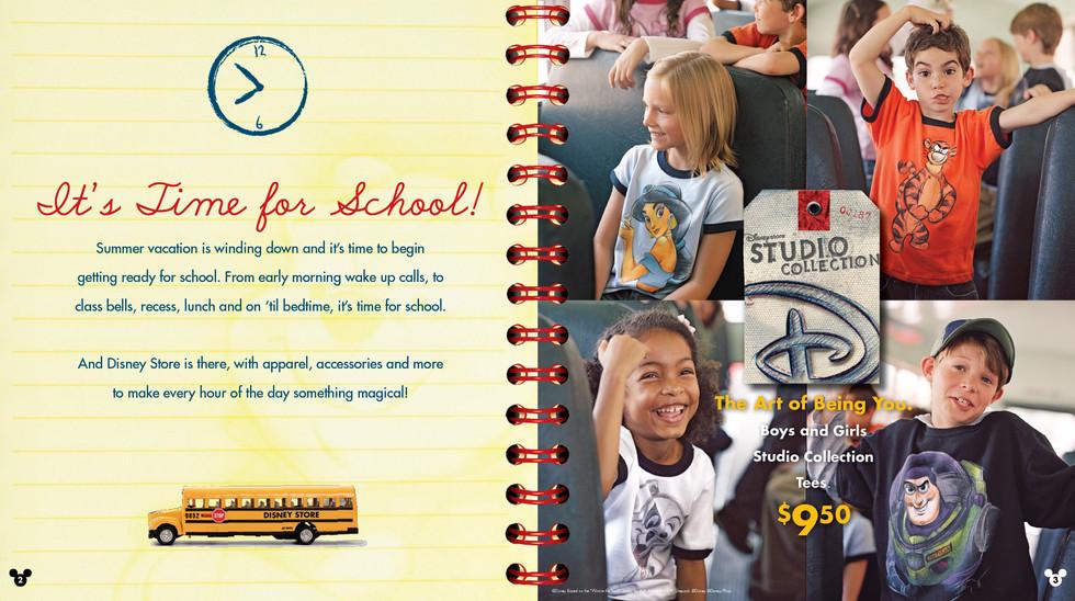 Disney Store Back To School Catalog