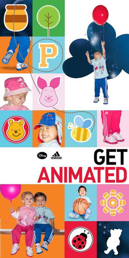 Disney x Adidas: Get Animated Global branding advertising and instore