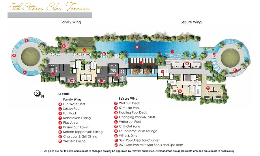 site plan-Lincoln suites-5th sty sky ter