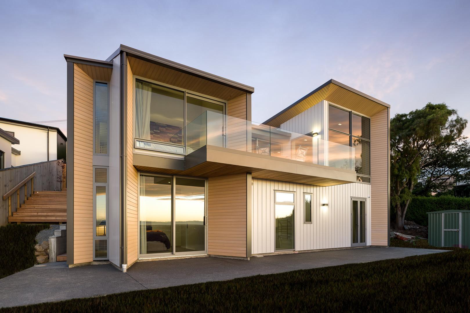 Architectural hillside home
