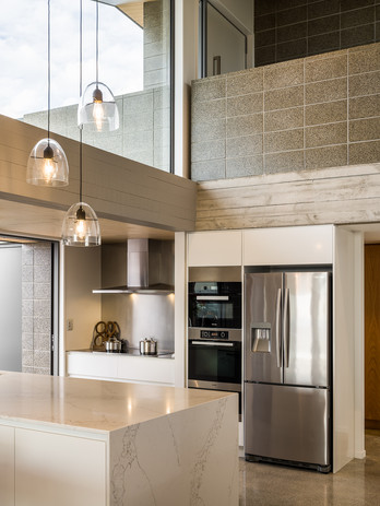 Concrete block interior finish