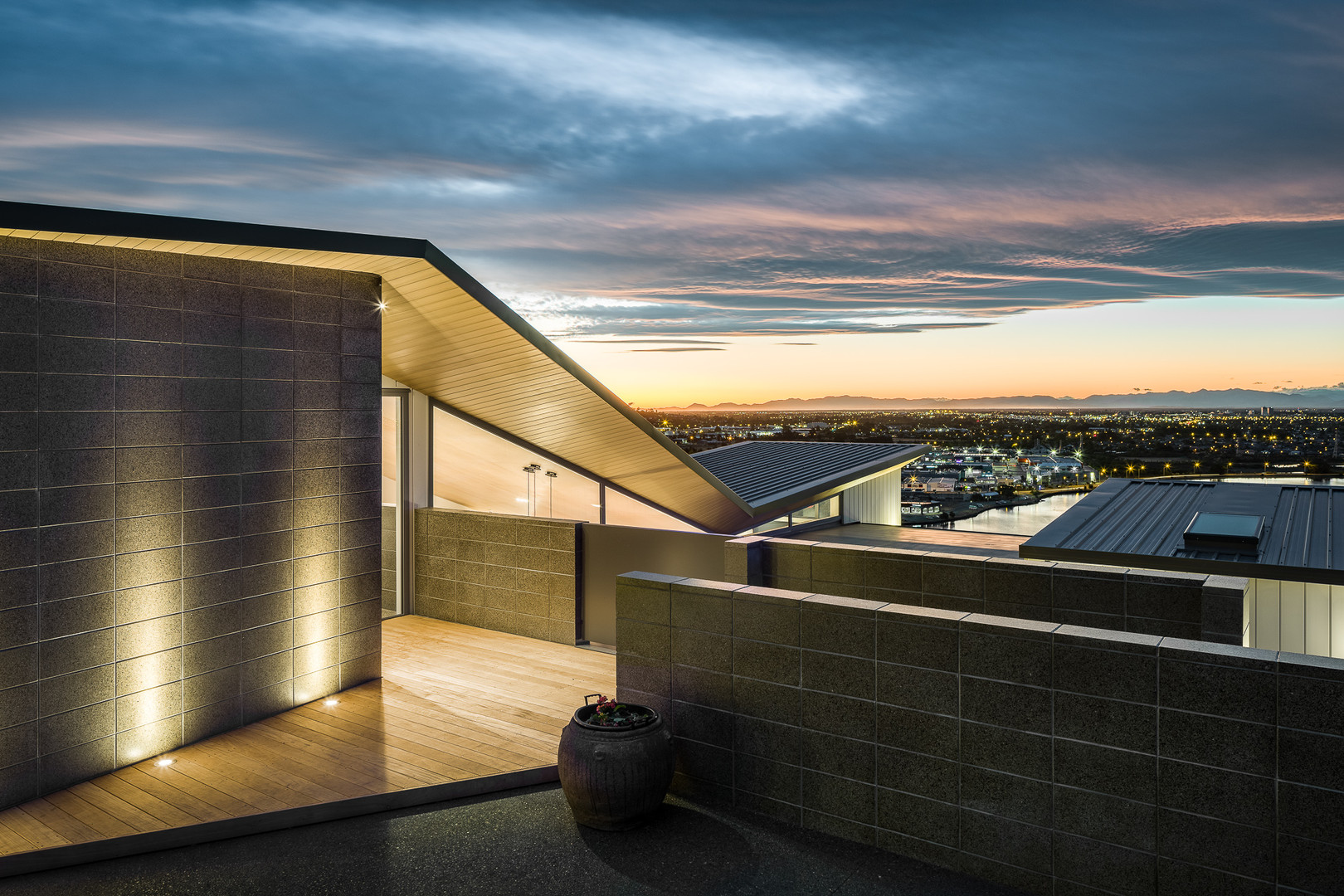 Redcliffs architectural home with stunning view