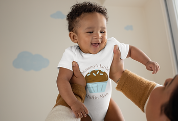 Mommy's Little Muffin Man by Femme Jolie Eye Design Studio. Shop Baby onesies, t-shirts, hoodies and more!