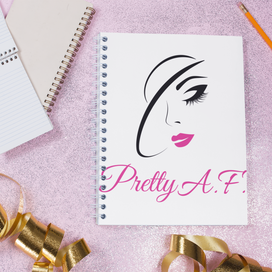 Pretty A.F. - Sprial Notebook