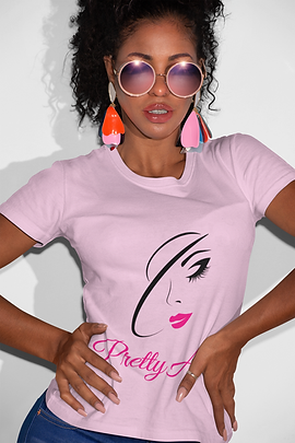 Pretty A.F. women's t-shirts, masks, home decor & accesories by Femme Jolie Columbus