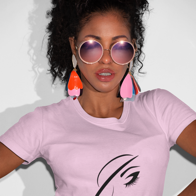 Pretty A.F. - Light Pink Fitted Tee