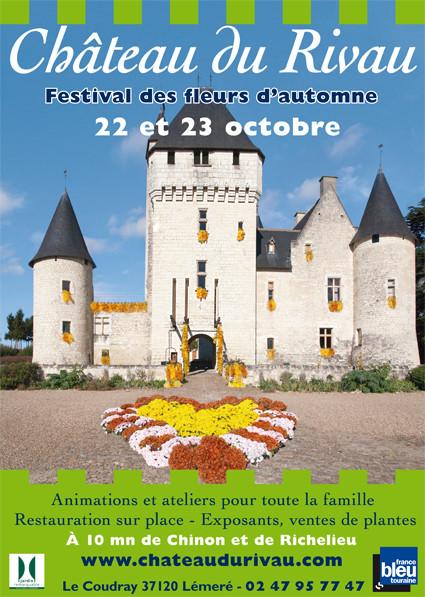 Festival des fleurs d'automne 22 et 23 octobre 2016 chateau du Rivau