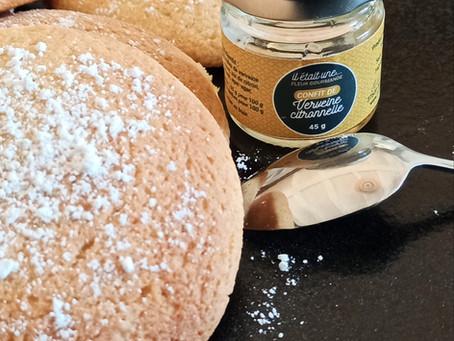 Biscuits légers au confit de verveine citronnelle et zestes de citrons
